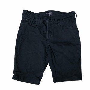 NYDJ Bermuda Shorts Briella Black Size 8 Petite 8P